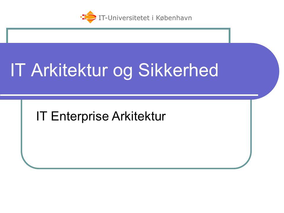 IT Arkitektur og Sikkerhed IT Enterprise Arkitektur