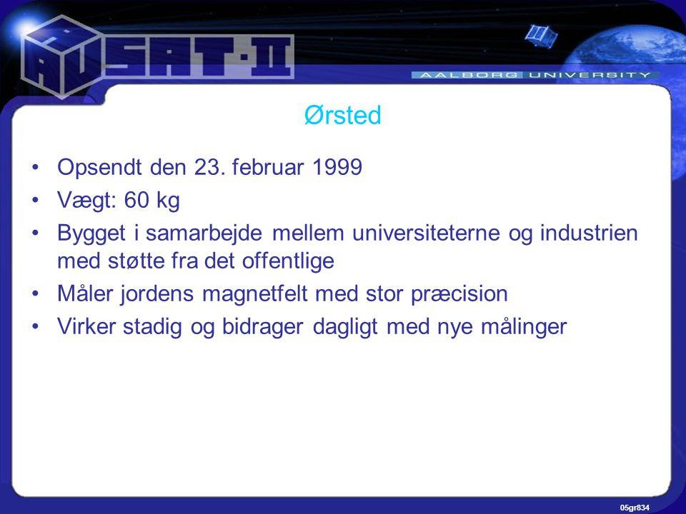 05gr834 Ørsted •Opsendt den 23.