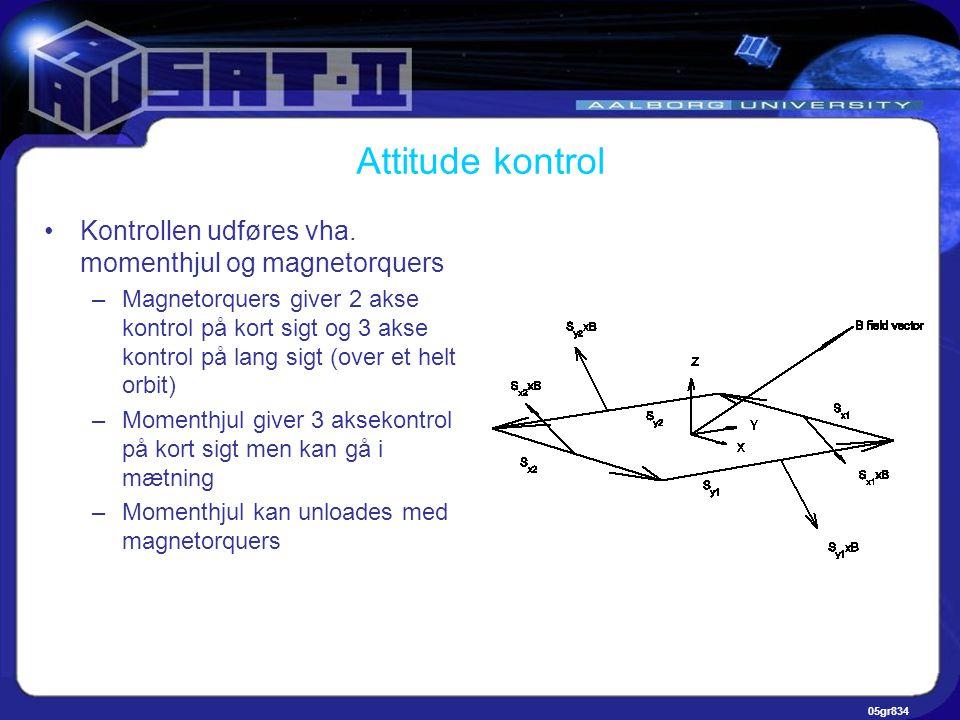 05gr834 Attitude kontrol •Kontrollen udføres vha.