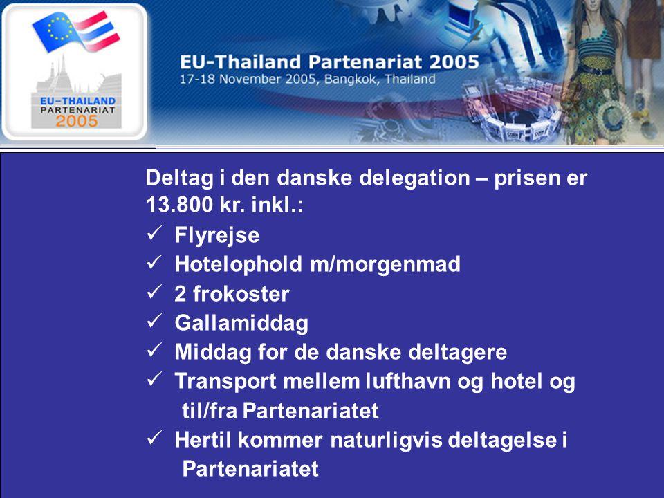 Deltag i den danske delegation – prisen er 13.800 kr.