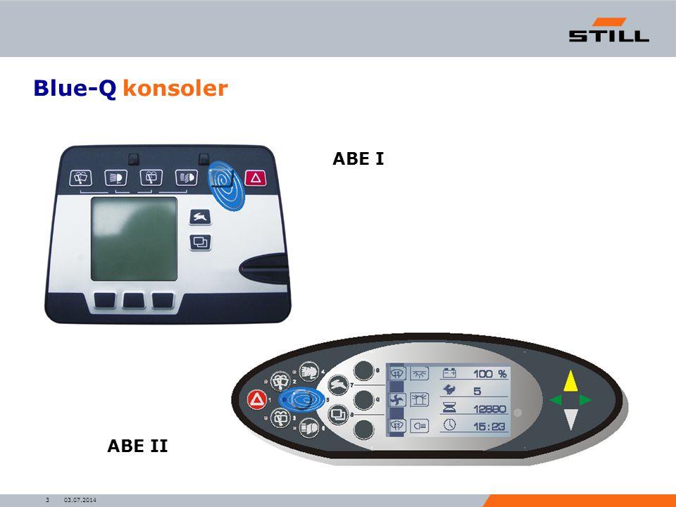 03.07.20143 Blue-Q konsoler ABE I ABE II