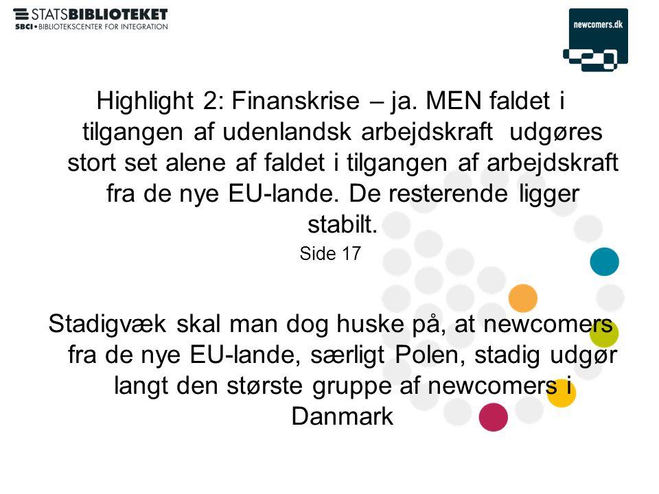 Highlight 2: Finanskrise – ja.