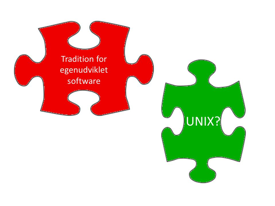 Tradition for egenudviklet software UNIX