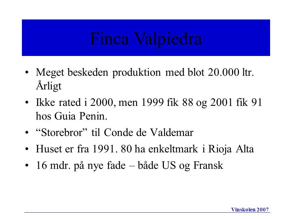 •Meget beskeden produktion med blot 20.000 ltr.