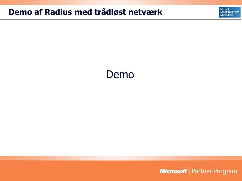 Demo af Radius med trådløst netværk Demo