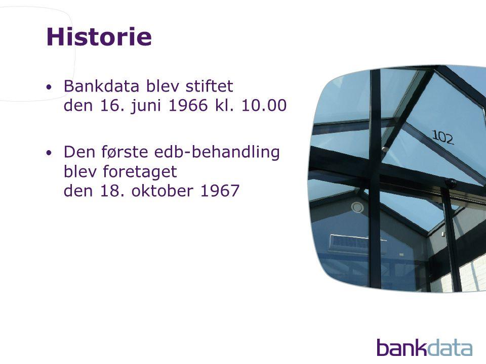 Historie • Bankdata blev stiftet den 16. juni 1966 kl.