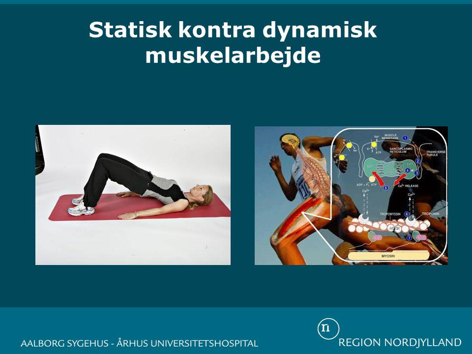 Statisk kontra dynamisk muskelarbejde