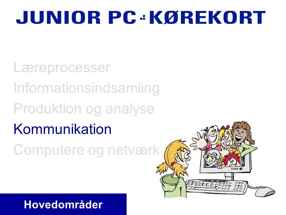 Hovedområder Læreprocesser Informationsindsamling Produktion og analyse Kommunikation Computere og netværk