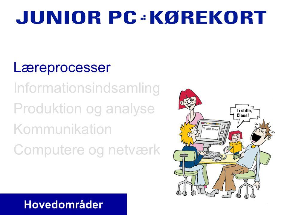 Læreprocesser Informationsindsamling Produktion og analyse Kommunikation Computere og netværk Hovedområder