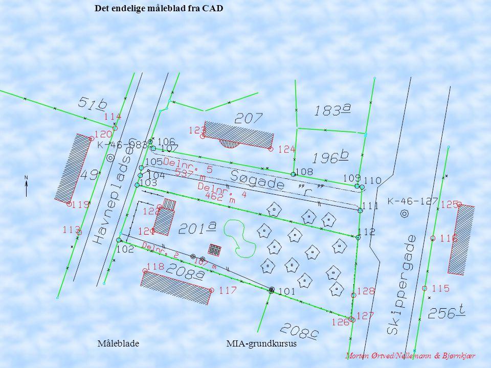 Måleblade MIA-grundkursus Morten Ørtved/Nellemann & Bjørnkjær Det endelige måleblad fra CAD