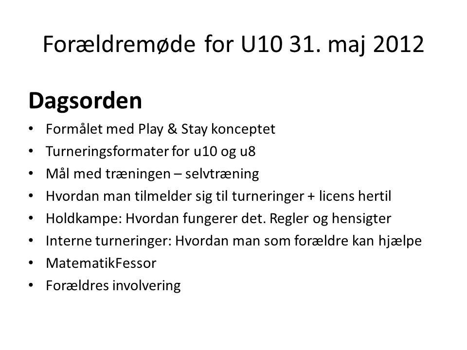 Forældremøde for U10 31.