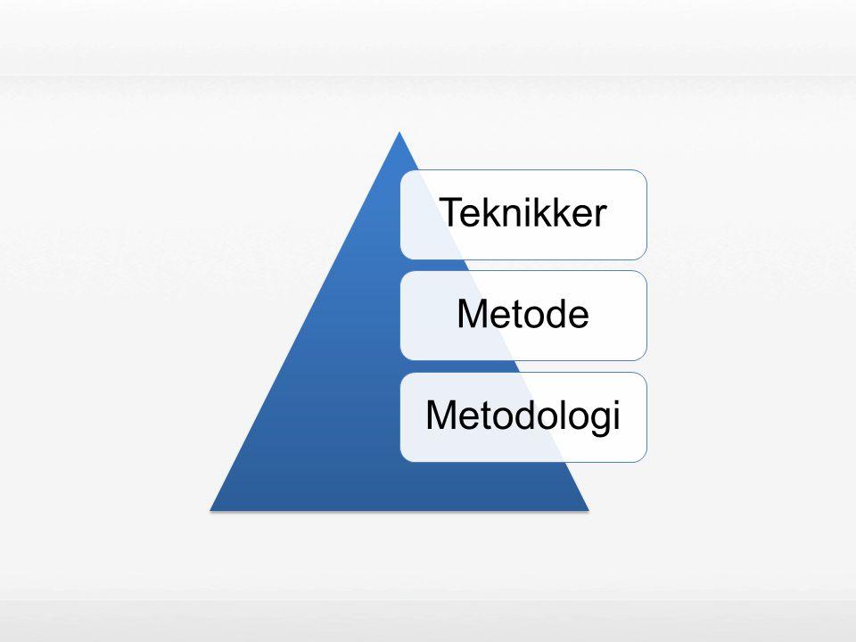 TeknikkerMetodeMetodologi