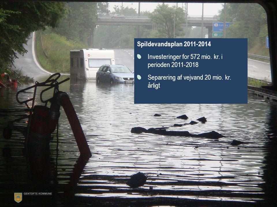 Spildevandsplan 2011-2014 Investeringer for 572 mio.