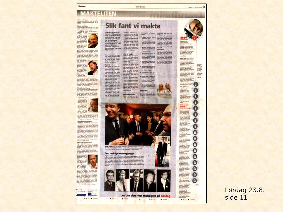 Torsdag 4.9. side 6 og 7