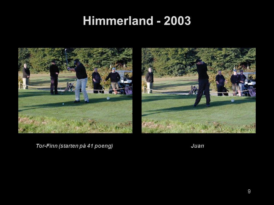 9 Himmerland - 2003 Tor-Finn (starten på 41 poeng)Juan