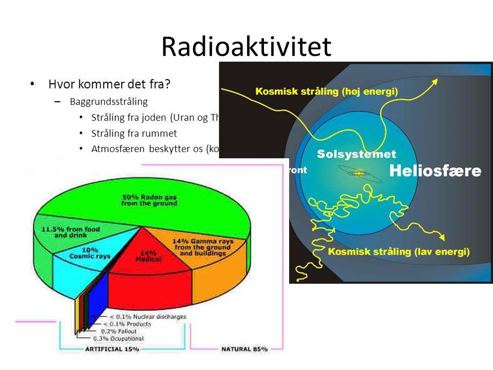 Radioaktivitet Hvor kommer det fra.