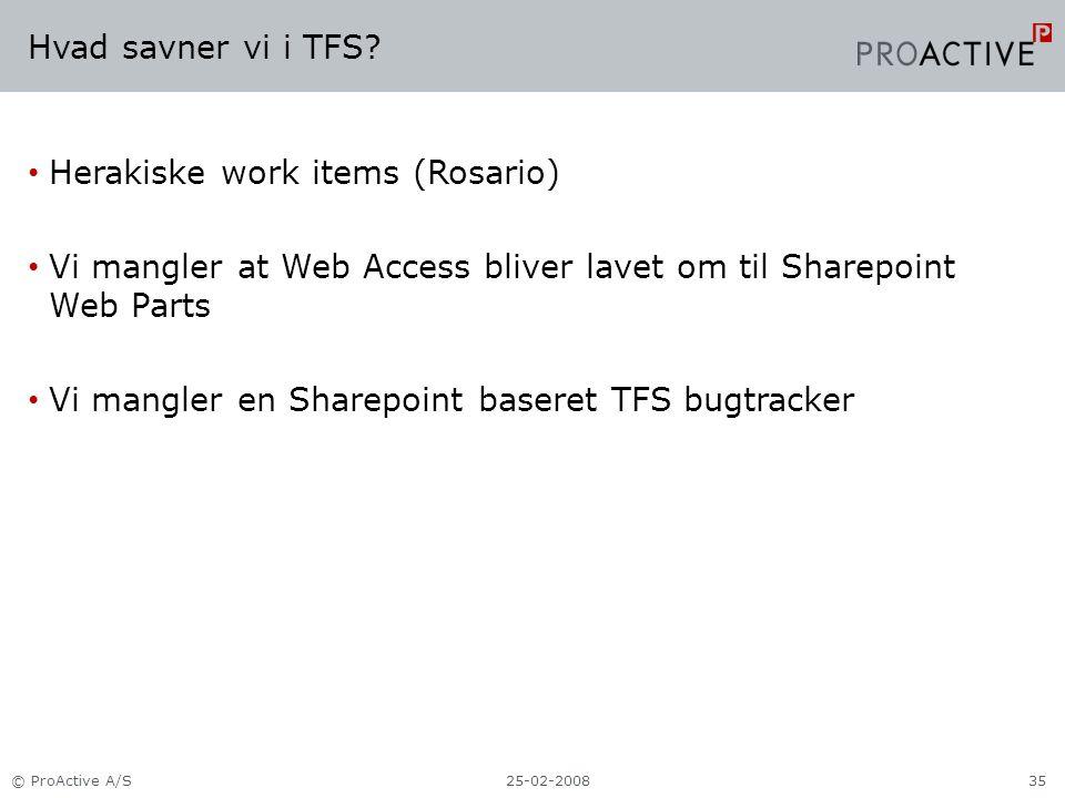 Hvad savner vi i TFS.