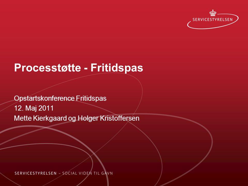 Processtøtte - Fritidspas Opstartskonference Fritidspas 12.