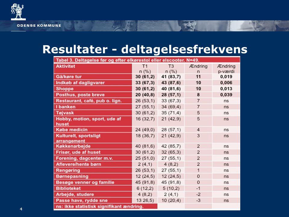 4 Resultater - deltagelsesfrekvens