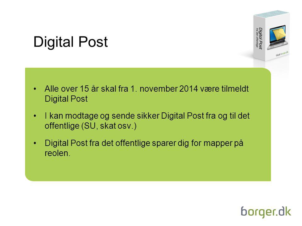 Digital Post Alle over 15 år skal fra 1.