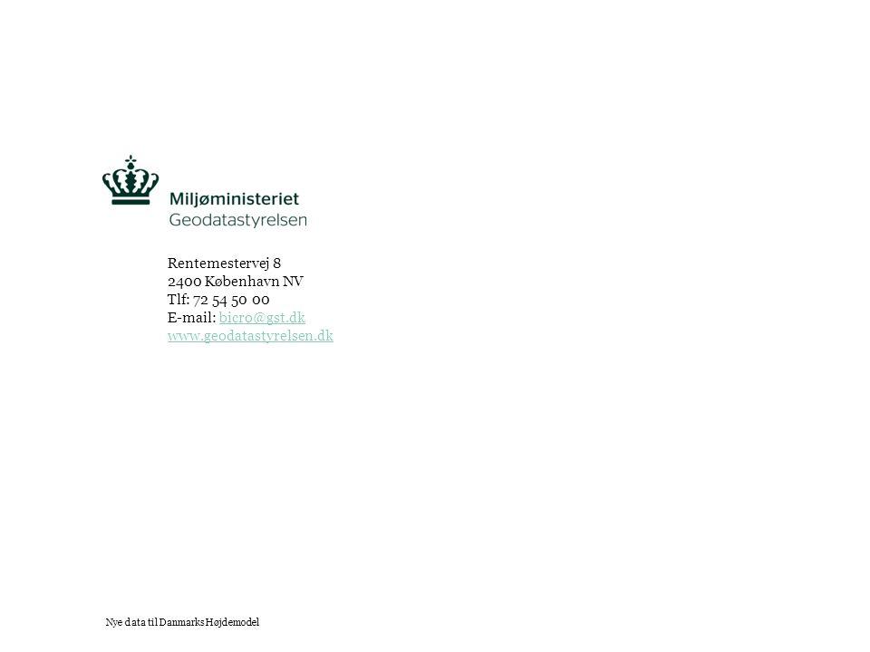 Tekst starter uden punktopstilling For at få punktopstilling på teksten (flere niveauer findes), brug >Forøg listeniveau- knappen i Topmenuen For at få venstrestillet tekst uden punktopstilling, brug >Formindsk listeniveau- knappen i Topmenuen Rentemestervej 8 2400 København NV Tlf: 72 54 50 00 E-mail: bicro@gst.dkbicro@gst.dk www.geodatastyrelsen.dk Nye data til Danmarks Højdemodel