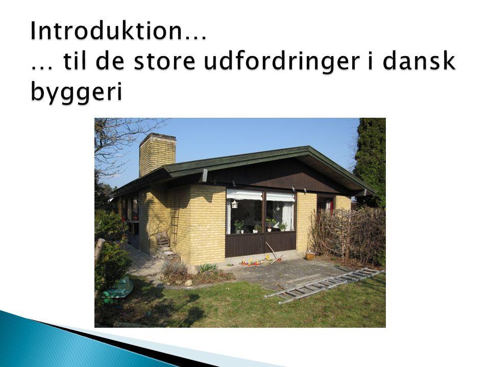 25 % reglen ved større ombygninger Enfamiliehuse: De berørte konstruktioner og/eller installationer skal energiforbedres.