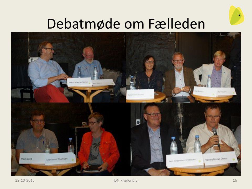 Debatmøde om Fælleden Alle partier (på det tidspunkt) mødte op Men de fleste tog ikke stilling til det spørgsmål, vi skulle diskutere – hvad skal vi bruge Fælleden til, hvis forsvaret ikke har brug for den mere.
