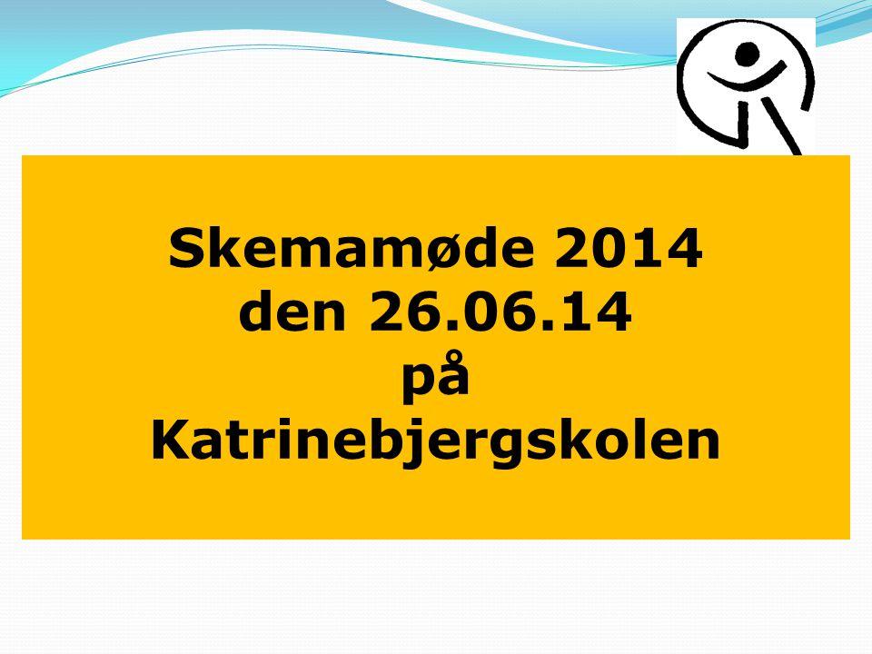 Skemamøde 2014 den 26.06.14 på Katrinebjergskolen