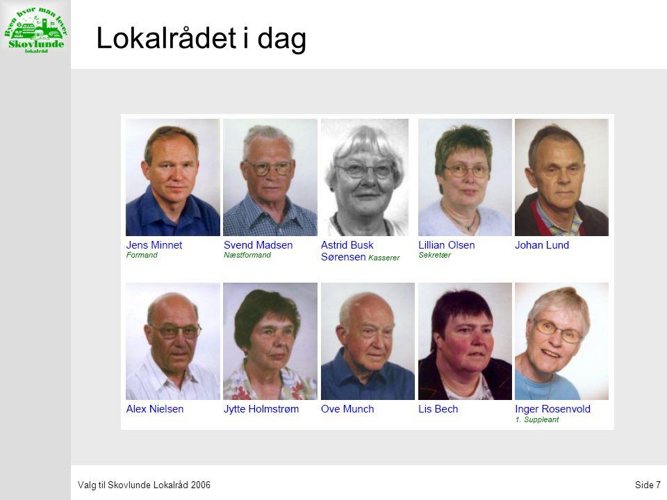 Valg til Skovlunde Lokalråd 2006Side 7 Lokalrådet i dag