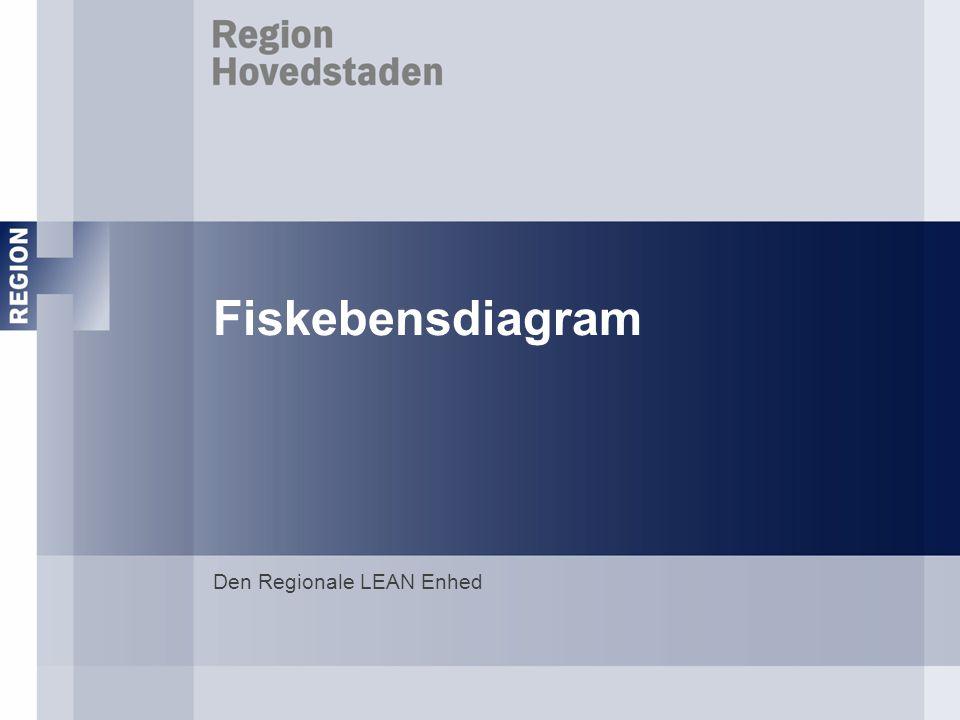 - Fiskebensdiagrammet anvendes til at identificere årsager til et problems opståen.