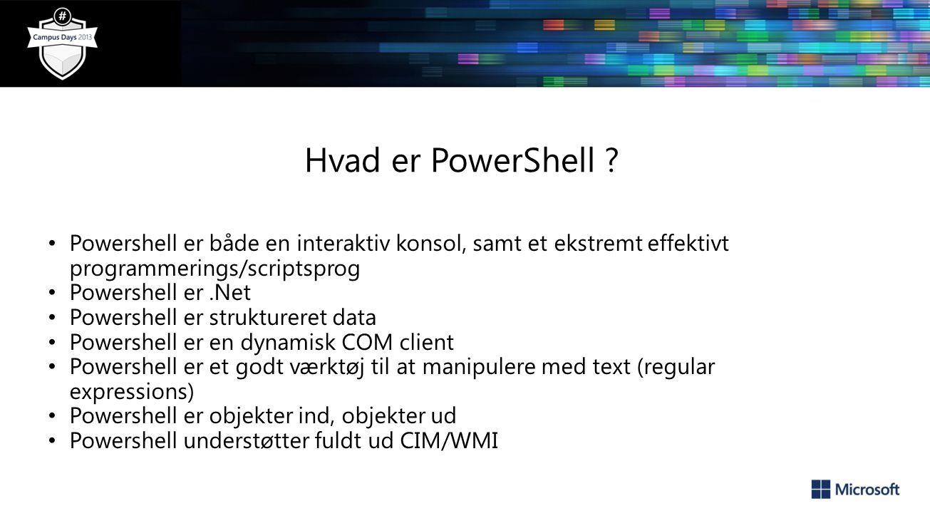 Hvad er PowerShell .