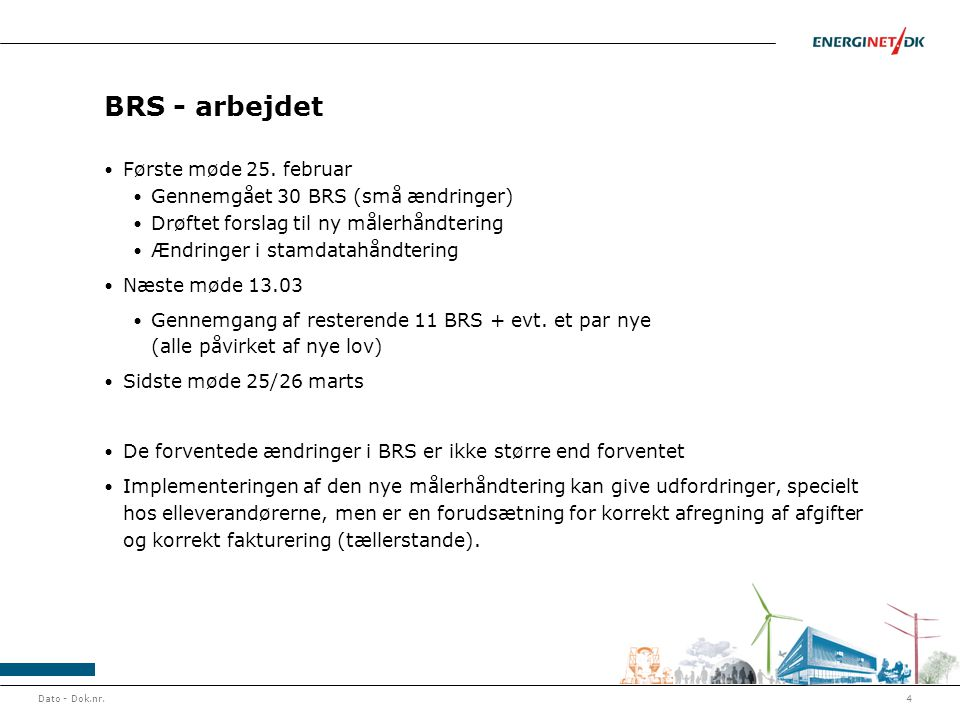 BRS - arbejdet Første møde 25.