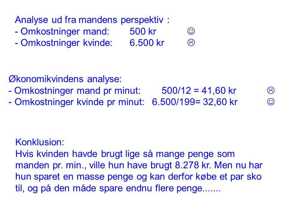 """Din opgave: """"Gå til H&M og køb et par bukser H&M MANDKVINDE Kaffepause Omkostninger: 500 kr."""