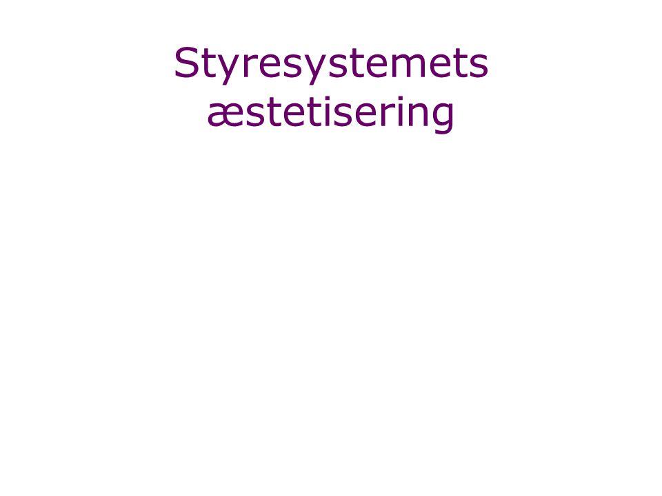Styresystemets æstetisering
