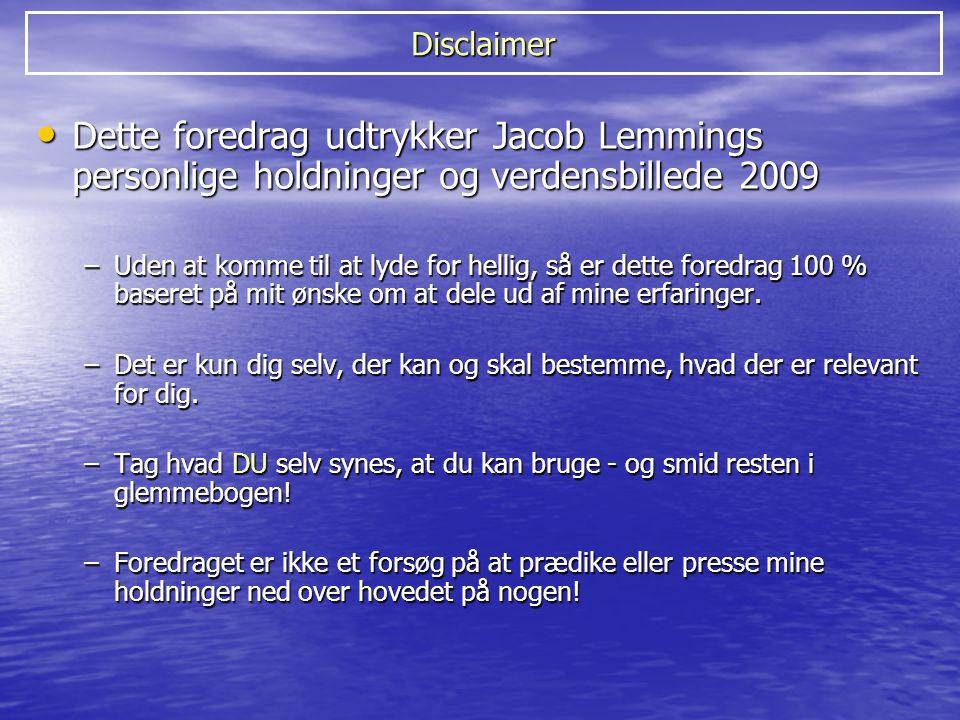 Historien om Jacob Lemmings hjerneskade (4/11-2003) Vi har kun de grænser, som vi selv anerkender!