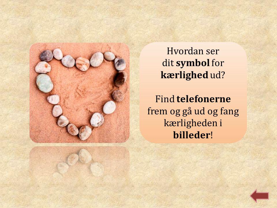 Hvordan ser dit symbol for kærlighed ud? Find telefonerne frem og gå ud og fang kærligheden i billeder!