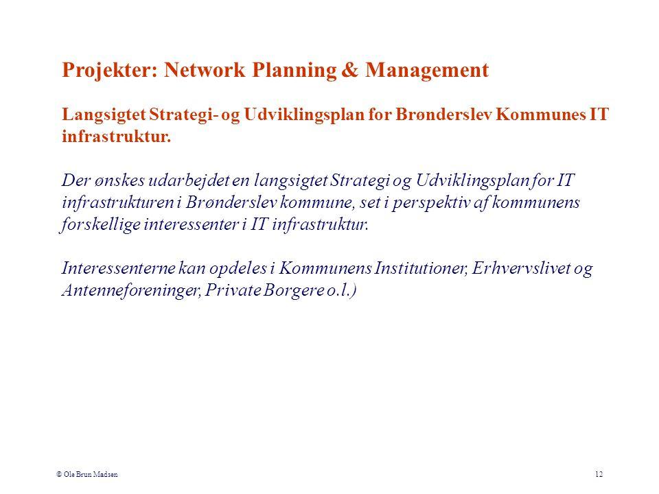 © Ole Brun Madsen12 Langsigtet Strategi- og Udviklingsplan for Brønderslev Kommunes IT infrastruktur.