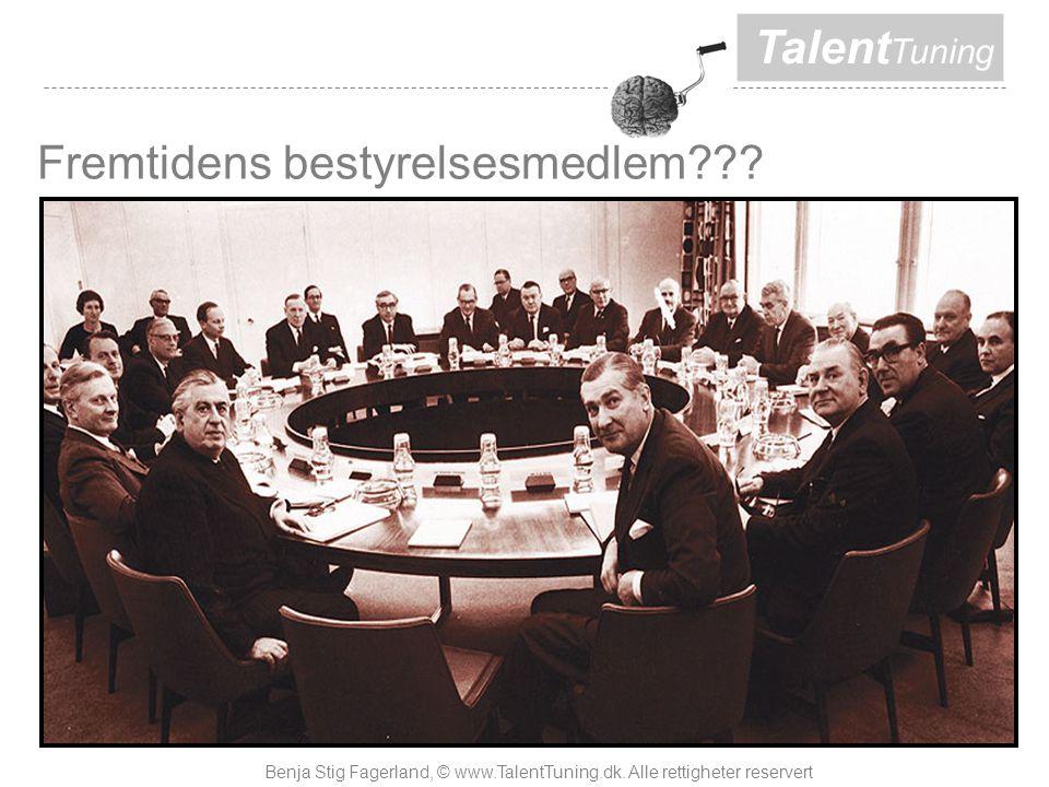 Talent Tuning Fremtidens bestyrelsesmedlem . Benja Stig Fagerland, © www.TalentTuning.dk.