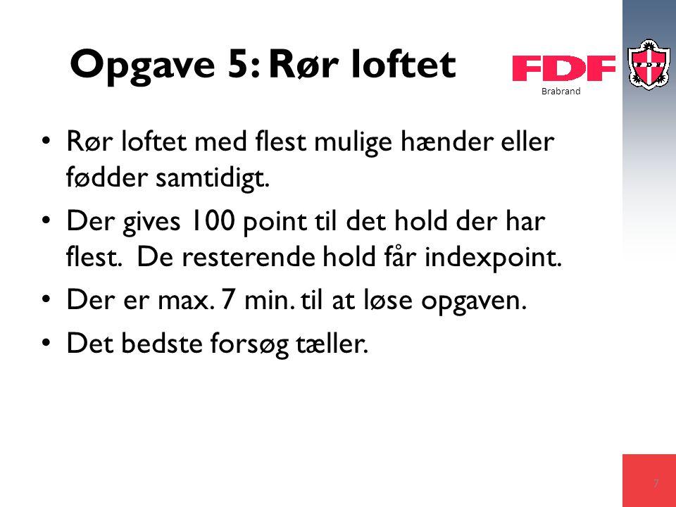 Brabrand Opgave 5: Rør loftet Rør loftet med flest mulige hænder eller fødder samtidigt.