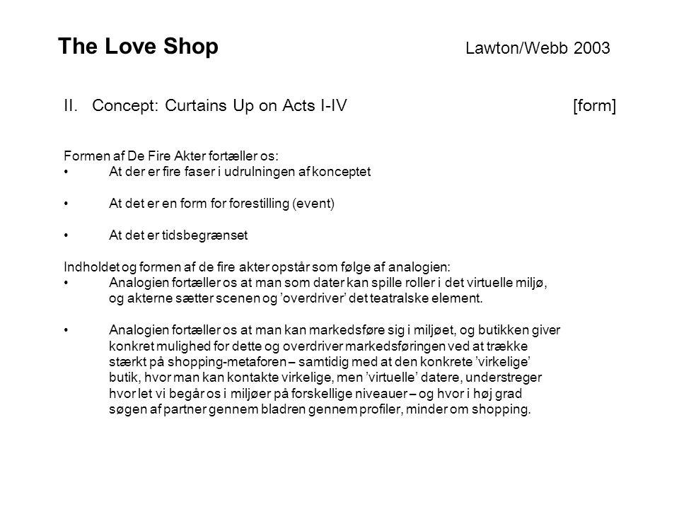 The Love Shop Lawton/Webb 2003 II.
