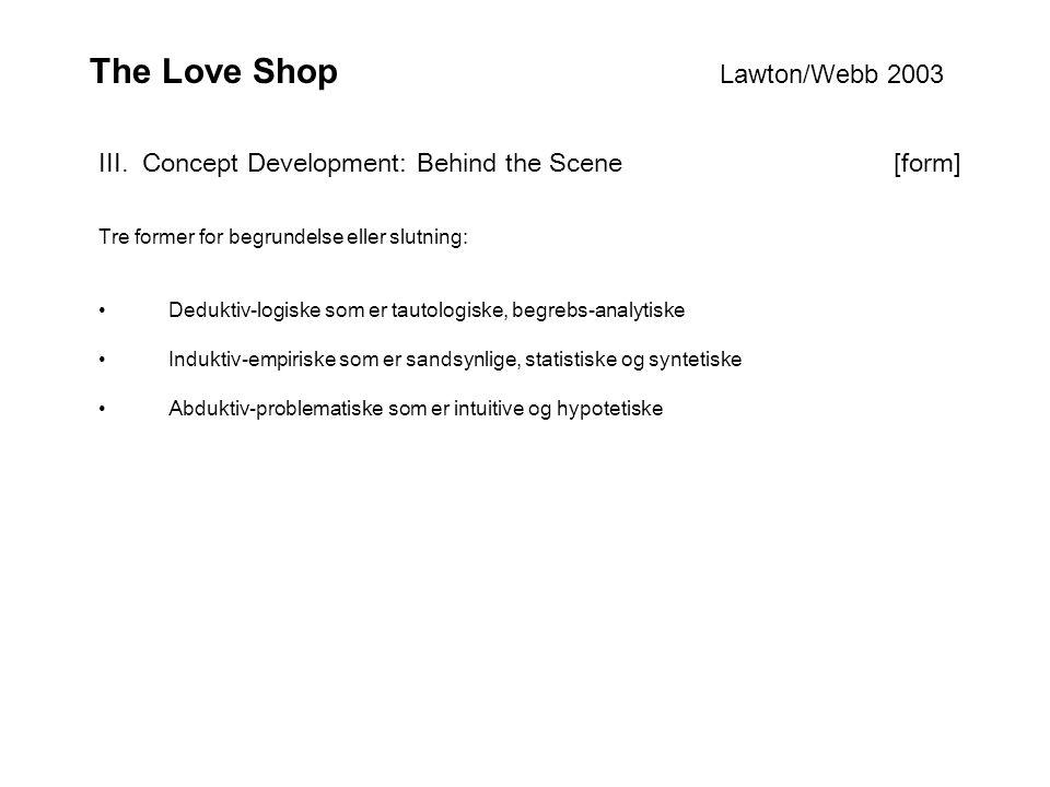 The Love Shop Lawton/Webb 2003 III.
