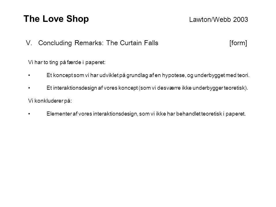 The Love Shop Lawton/Webb 2003 V.