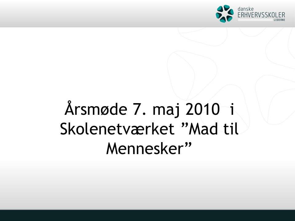 Årsmøde 7. maj 2010 i Skolenetværket Mad til Mennesker