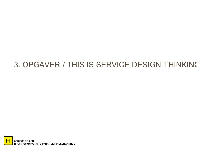 SERVICE DESIGN IT AARHUS UNIVERSITET/ARKITEKTSKOLEN AARHUS 3.