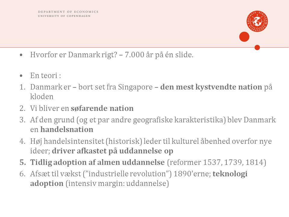 Hvorfor er Danmark rigt. – 7.000 år på én slide.