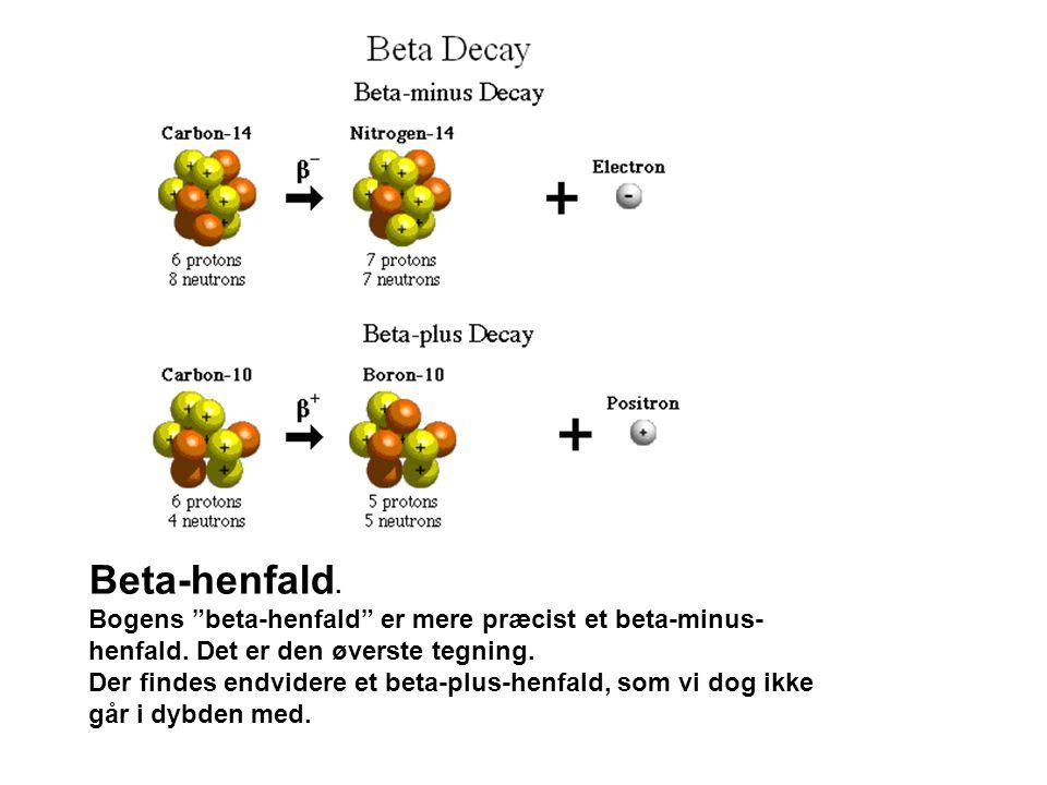 Beta-henfald.Bogens beta-henfald er mere præcist et beta-minus- henfald.