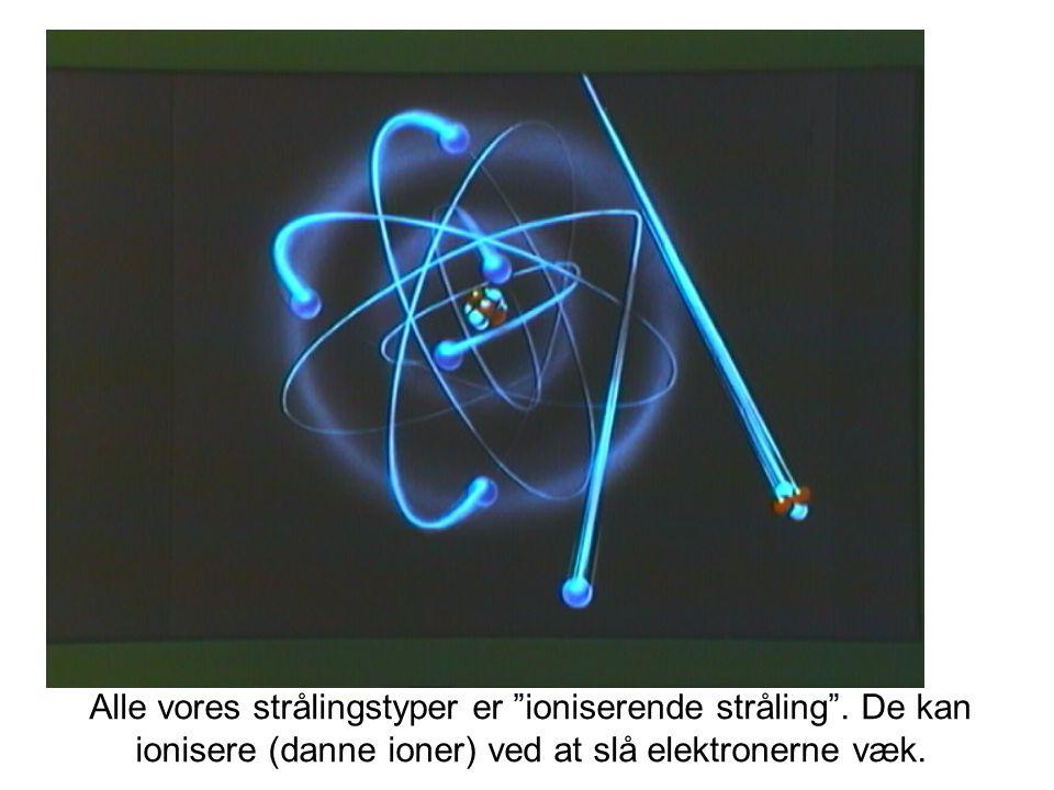 Alle vores strålingstyper er ioniserende stråling .