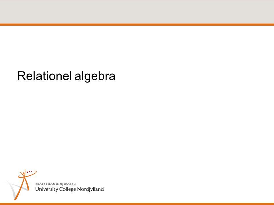 Relationel algebra