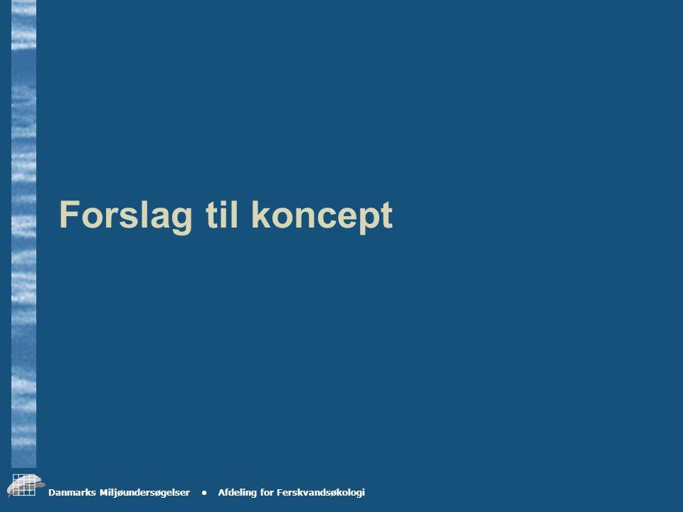 Danmarks Miljøundersøgelser Afdeling for Ferskvandsøkologi Prøvetagningsterminer Første prøvetagning udføres i uge 40 2004 Anden prøvetagning udføres i uge 50 2004 Tredje prøvetagning udføres i uge 10 2005 Fjerde prøvetagning udføres i uge 20 2005 Mandag-tirsdag i ugen.