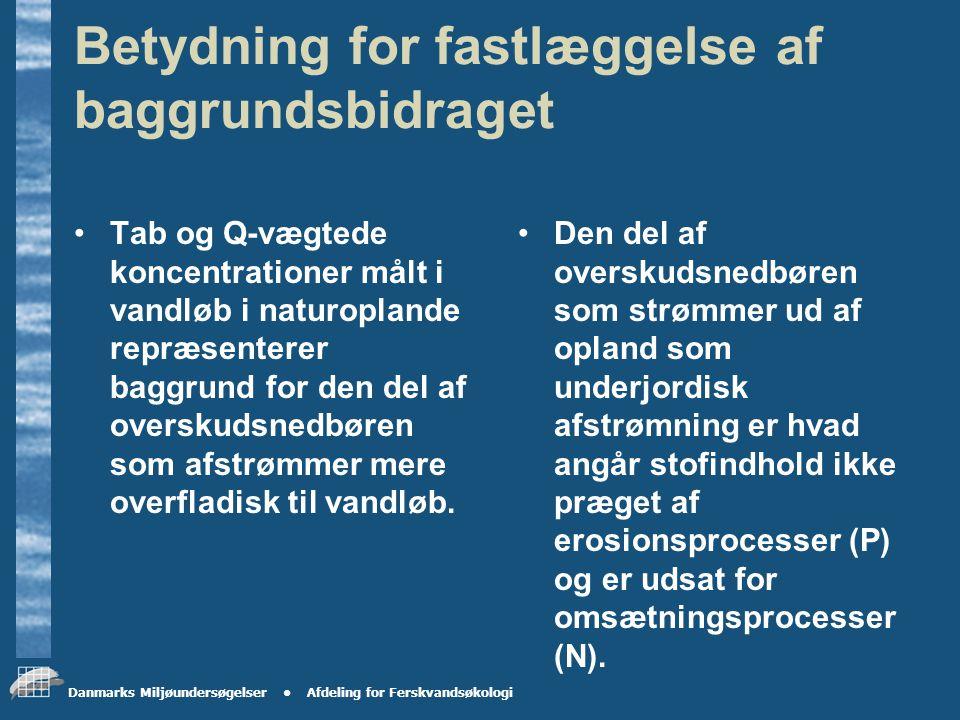 Danmarks Miljøundersøgelser Afdeling for Ferskvandsøkologi Forskel i vandbalance skyldes Underjordisk afstrømning ud af oplandet.